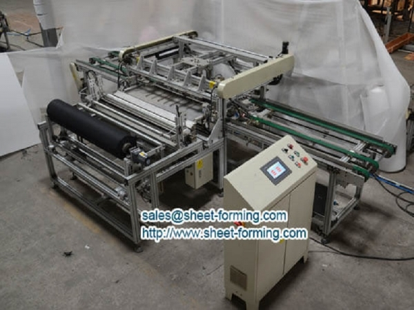 Saudi Project 600X600mm Full Perforation Acoustic Nonwoven Stick Machine